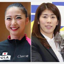 畠山愛理(左)と吉田沙保里