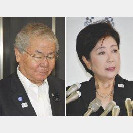 内田茂前幹事長(左)はやられっぱなし
