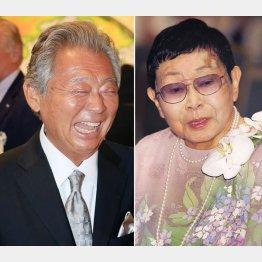 橋田寿賀子(右)とみのもんた