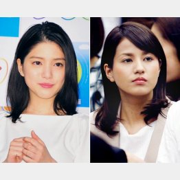 「ZIP!」の川島海荷(左)と「めざましテレビ」の永島優美