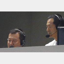 解説する原辰徳前巨人監督と中畑清前DeNA監督(C)日刊ゲンダイ
