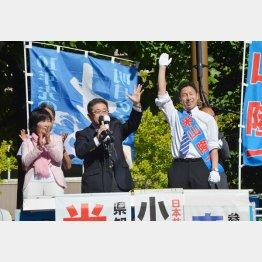 米山隆一候補は激戦を制するか?(C)日刊ゲンダイ