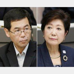 岸本市場長(左)は更送された/(C)日刊ゲンダイ