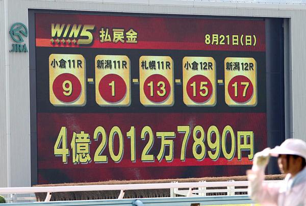 「WIN5」の最高配当額は今年8月に出た4億2000万円/(C)日刊ゲンダイ