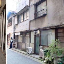 すべて高橋さん所有の土地で一番奥が自宅だった(左は遺体発見現場)