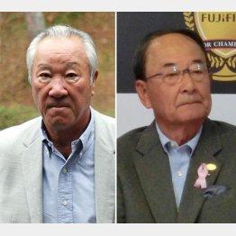 渦中の松井功副会長(左は青木功会長)