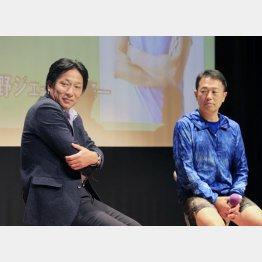 原監督(左)と中野ジェームズ修一氏