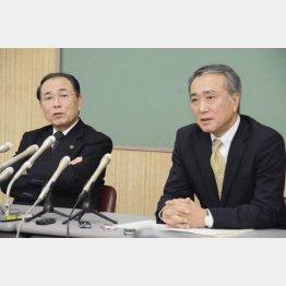 斉藤市長(左)と田中副市長