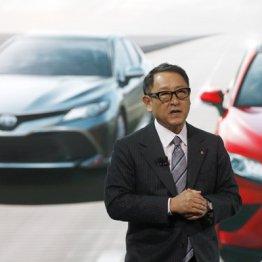 デトロイトの自動車ショーで記者会見した豊田章男社長
