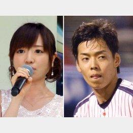 結婚を発表した紺野アナとヤクルト・杉浦投手