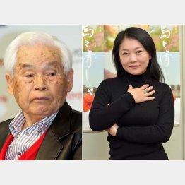 故新藤兼人監督(左)と新藤風監督