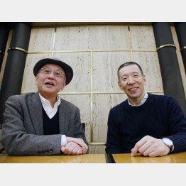 柳亭市馬(左)と吉川潮
