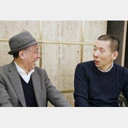 柳亭市馬(右)と吉川潮