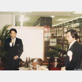 2号店のオープニングセレモニー(左が工藤社長)